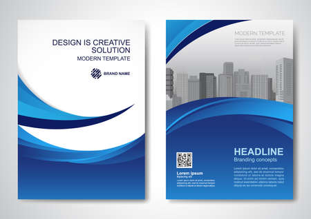 Template vector design for Brochure, AnnualReport, Magazine, Poster, Corporate Presentation, Portfolio, Flyer, infographic, layout modern with colorful size A4, Front and back, Easy to use. 向量圖像