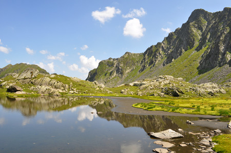 Mountain landscape, Fagaras mountains, Romania Standard-Bild