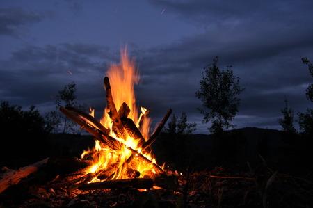 bonfire night: Bonfire, campfire  Stock Photo