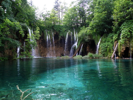 Waterfall in Plitvice, Lakes national park, Croatia
