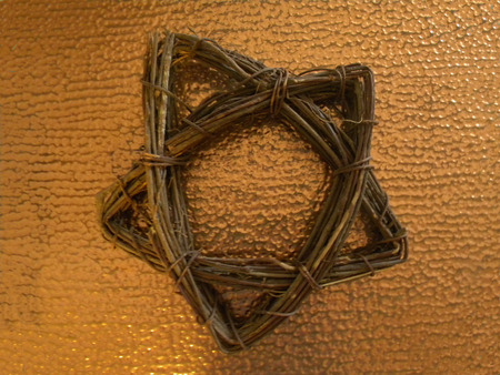 woven star on copper