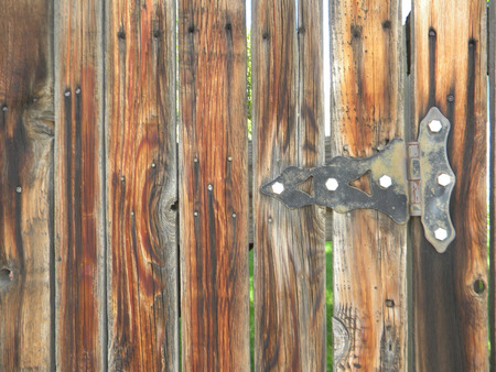 weathered: weathered hinge Stock Photo