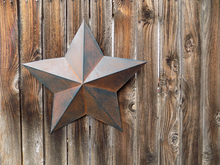 rusty: Rusty star Stock Photo