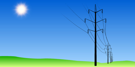 isolator: Electric poles in the field