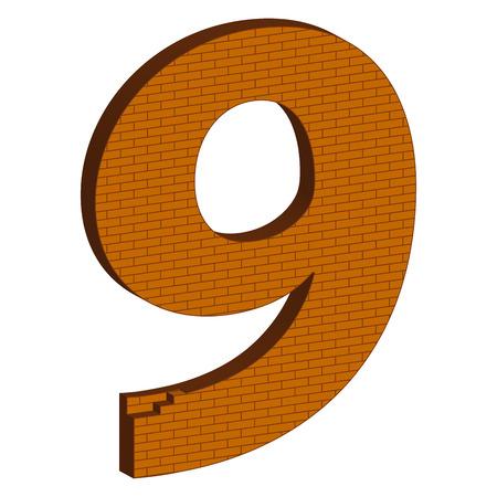 brickwork: The number in the form of brickwork Illustration