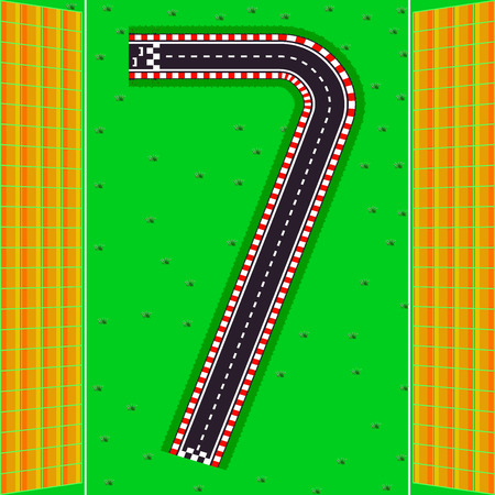 The number seven. The tracks with stands for spectators