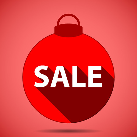 Christmas icon silhouette decals sale of the year on pink background