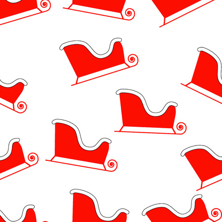santa sleigh: New year pattern with Santas sleigh Illustration