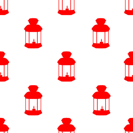 gray pattern: Pattern with silhouettes of lanterns on gray background