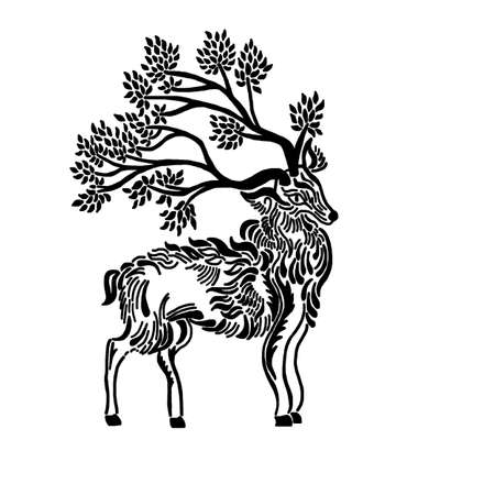 Forest Stag Illustration