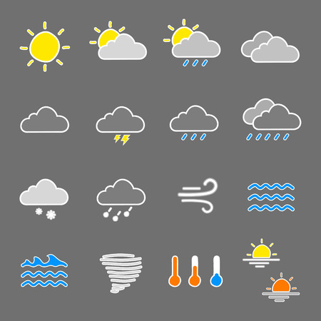 color range: weather icons designed to work on wide range of background color also work on black and white background