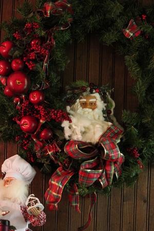 Santa wreath Stock Photo