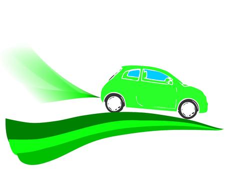 Illustration of friendly eco car illustration