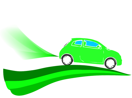 Illustration of friendly eco car