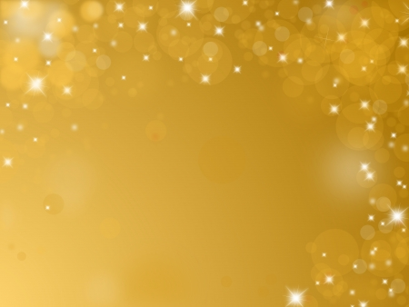 birthday backdrop: Shiny golden background with text space Stock Photo