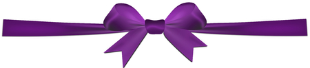 Purple bow isolated on a white background photo
