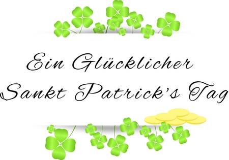 cloverleaves: Board with greetings on St  Patrick