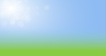de focus: Green and yellow blurry sunny  with blue sky  Nature  on the website as template