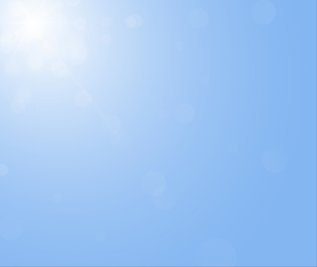 without clouds: Sun is sining on the blue sky without clouds. Illustration of the sunbeam.