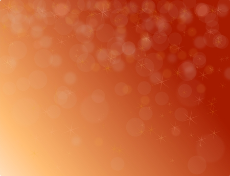 Abstract red christmas background with bokeh and stars