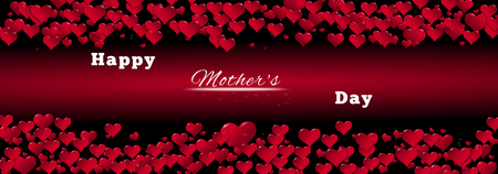 Banner of hearts for a Mother