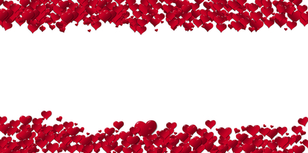 Banner of hearts for holidays on a white background Reklamní fotografie