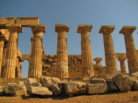 tempio greco: il tempio greco di Selinunte Archivio Fotografico