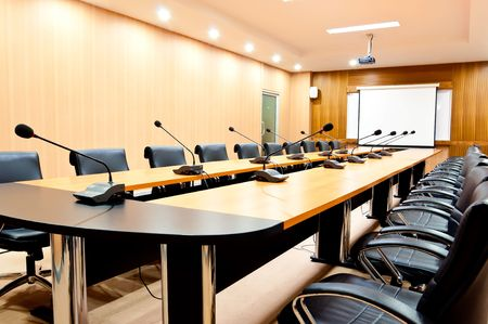 lecture room: boardroom-interior