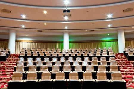 auditorium: empty seat in conference room interior
