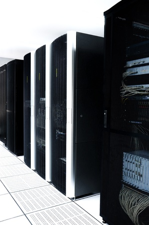 Row of black servers photo