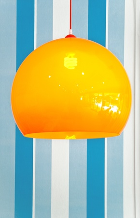 decoration lamp against blue wall photo