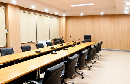 Business meeting room or board room interior photo