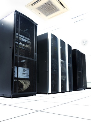 row of server racks in a datacenter photo