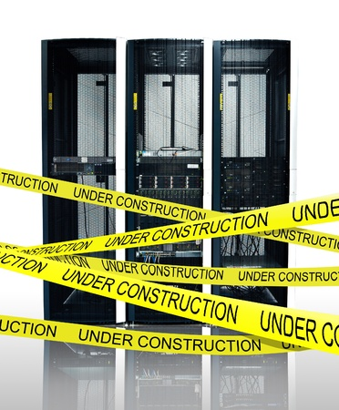 Computer server under construction photo