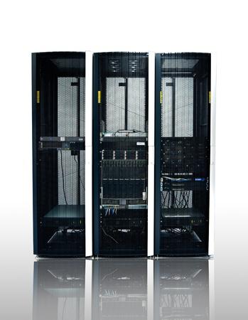 administrador de empresas: negro del servidor o del centro de datos aislados Foto de archivo