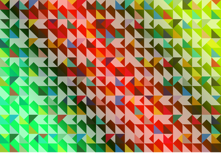 reverberation: Various dimension pattern in colorful illustration.