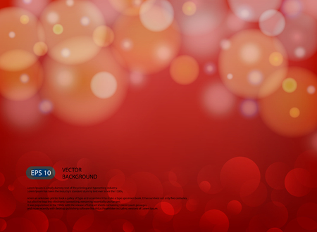 Red blur abstract background with light in modern illustration, vector