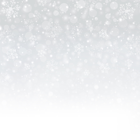 Snowflakes of Winter Christmas background, illustration vector Illustration