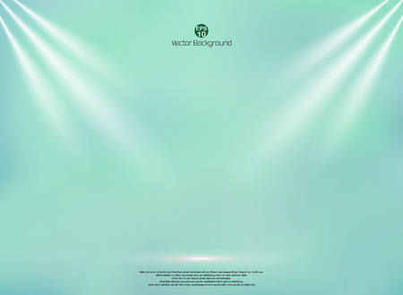 Blending green mint color background with lightning business backdrop, Mock up template for product display and copy space studio, vector illustration eps10