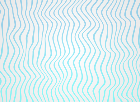 Abstract of sea blue lines wave pattern soft white of rough surface vector Illustration Ilustração