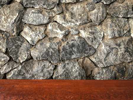 Rocks background with wooden, image picture Stock Photo