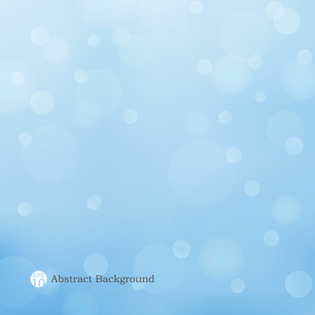 Abstract of blue background with soft light of bokeh for business presentation. Illustration vector eps10
