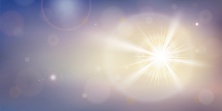 Abstract of sunlight special lens effect with flares. Summers time of natural background. Vector illustration eps10