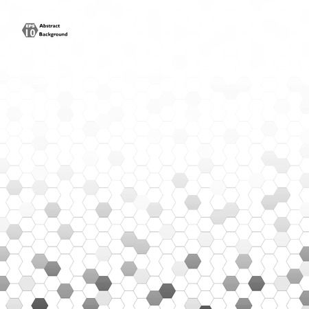 Abstract background of grey shapes in pentagons. White and grey texture. Illustration vector eps10