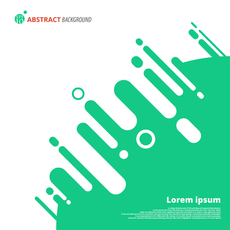 Abstract plain tone of green color backdrop with shapes of circle Illustration