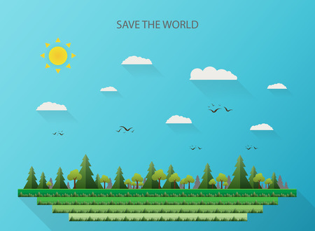 Abstract of nature background for saving the world Illustration
