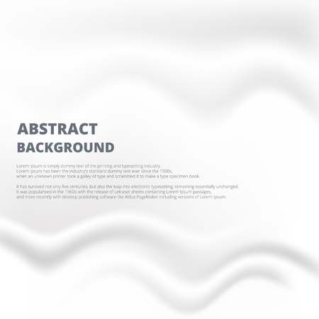 Abstraction of white paper with smoogh crease and rumple background design joining with copy space.