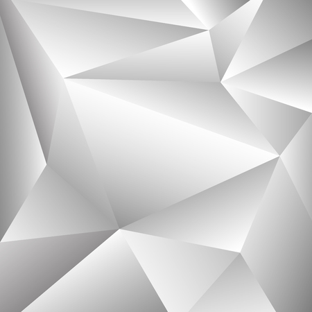 Abstraction of grey and white polygon shape pattern background. You can use for presenting in cover. Each piece and change color