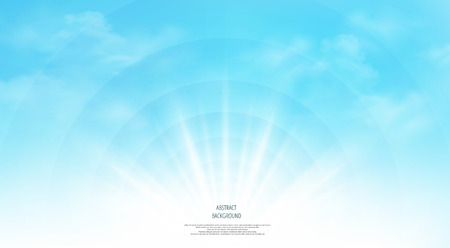 Abstract of realistic sunshine on the sky background. Each layer has separated, you can use and adjust for working. illustration vector eps10 Vector Illustration