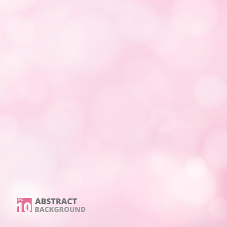 Abstract of bokeh pattern on pink background, illustration eps10